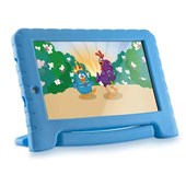 "Tablet Multilaser Galinha Pintadinha Azul 8GB Wifi 7"" Plus Azul - NB282"